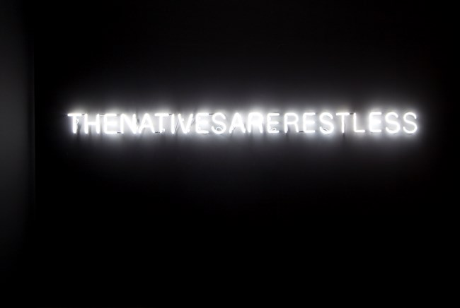 The Natives Are Restless by Newell Harry contemporary artwork