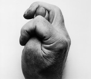 Self-Portrait (Clenched Thumb Sideways) by John Coplans contemporary artwork