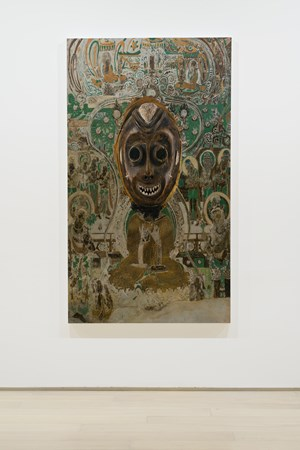 Evolution-South Wall of Mogao Cave No.66, Tundo Mask 进化-莫高窟066窟主室南壁、汤杜面具 by XU ZHEN® contemporary artwork