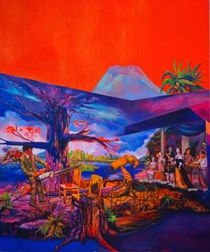 Trilogi Pribumi After F.X. Harsono by Zico Albaiquni contemporary artwork