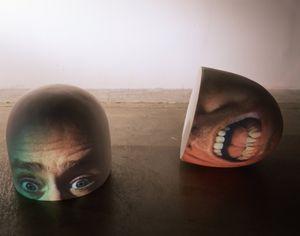 Half (Brain) by Tony Oursler contemporary artwork