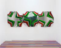 Metal Box (Tea Tree Orchid) by Jim Lambie contemporary artwork sculpture