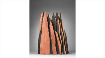Contemporary art exhibition, David Nash, Columns, Peaks and Torso at Galerie Lelong & Co. Paris, 13 Rue de Téhéran, Paris