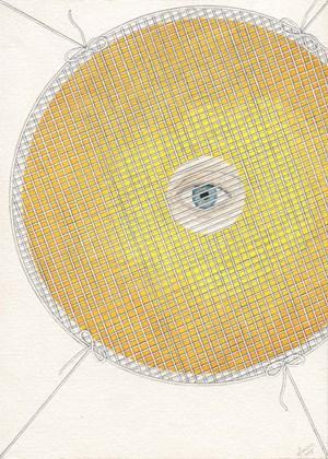 Sun Eye, Sad Eye by Zina Swanson contemporary artwork