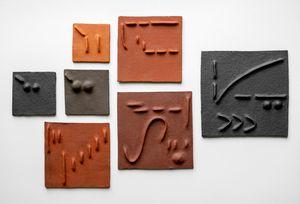 Pidgin Tiles Set 1 by Pyda Nyariri contemporary artwork sculpture