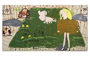 Pig Painting by Rose Wylie contemporary artwork