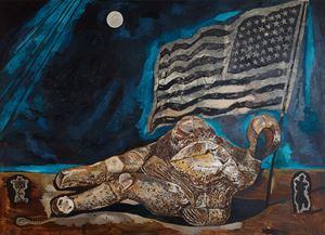 Great American Nude 2 by Damien Deroubaix contemporary artwork painting