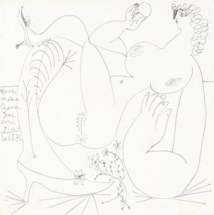 Nu allongé, les jambes croisées by Pablo Picasso contemporary artwork