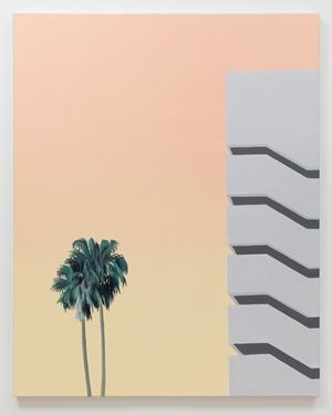 Palms and parking garage by Alec Egan contemporary artwork
