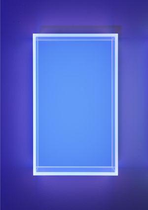 Colormirror pastel blue Milan by Regine Schumann contemporary artwork