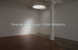 Things are conspicuous in their absence ... by Cerith Wyn Evans contemporary artwork