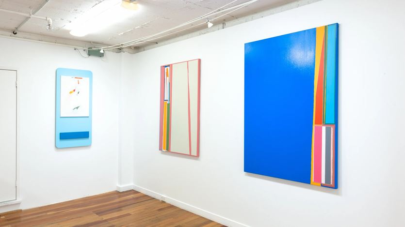 Exhibition view: Ed Bats, Bootleg Utopia, PAGE Galleries, Wellington (20 August–12 September 2020). Courtesy PAGE Galleries.