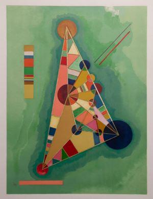 Bunt im Dreieck by Wassily Kandinsky contemporary artwork