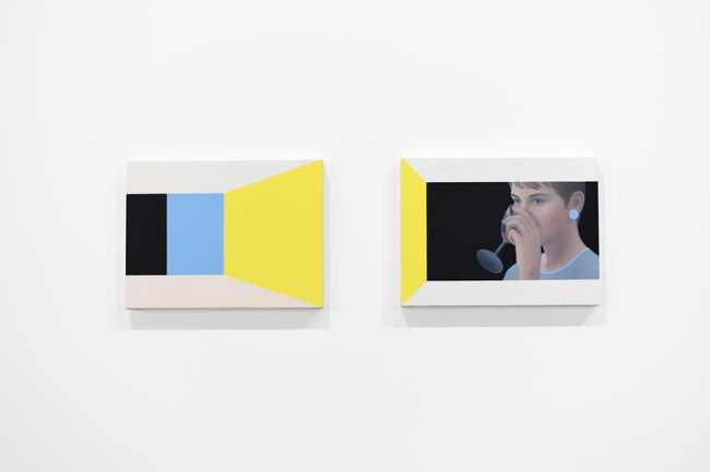 Movie Still with Yellow and Blue, Diptych by Ridley Howard contemporary artwork