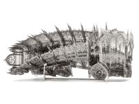 Twisted Dumptruck (CW) by Wim Delvoye contemporary artwork sculpture