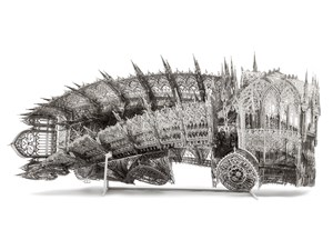 Twisted Dumptruck (CW) by Wim Delvoye contemporary artwork