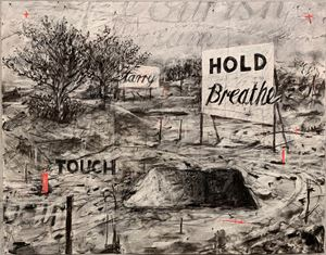 Hold, Breathe, Touch (Drawing from a Natural History of the Studio) by William Kentridge contemporary artwork