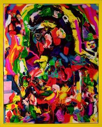 Rainbow Cleopatra by TV Moore contemporary artwork painting