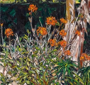 Wooli garden (crucifix orchids with avocado and banana palm) by Nicholas Harding contemporary artwork