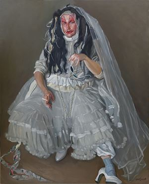 Art School Boy Dressed Up As A Bride by Chen Danqing contemporary artwork