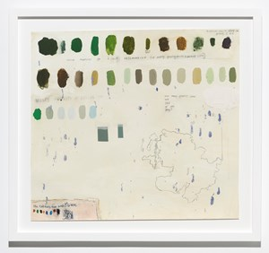 How Many Greens by Squeak Carnwath contemporary artwork