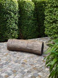Julie Inscription by Ian Hamilton Finlay contemporary artwork sculpture