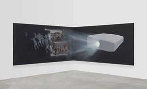 Corner Projection (Time) by Tala Madani contemporary artwork