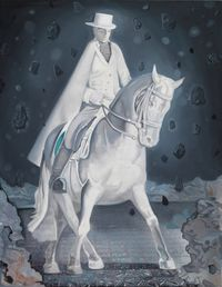 Knight in Lights 沐光的骑者 by Xiong Yu contemporary artwork painting