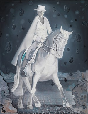 Knight in Lights 沐光的骑者 by Xiong Yu contemporary artwork