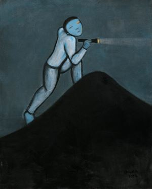 Night Scene by Duan Zhengqu contemporary artwork