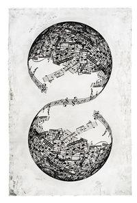 Symétrie by Jaume Plensa contemporary artwork print