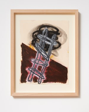 Ladder and Step Series #13 by Basil Beattie contemporary artwork
