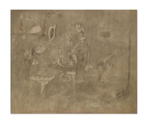 Gray Drawing for Pastoral by Arshile Gorky contemporary artwork