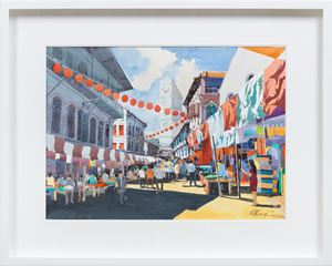 Temple Street (California Style Series) by Ong Kim Seng contemporary artwork