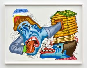 Argument by Peter Saul contemporary artwork