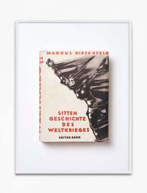 Magnus Hirschfeld, Sittengeschichte des Weltkrieges, 1930, herausgegeben von Sanitätsrat Dr. Magnus Hirschfeld, Erster Band, Verlag für SexualwissenschaftSchneider & Co., Leipzig, Wien by Annette Kelm contemporary artwork print
