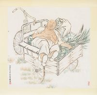The nap by Yun-Fei Ji contemporary artwork works on paper
