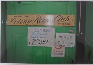 Colony Room Door by William Corbett contemporary artwork