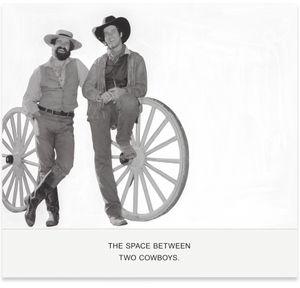 The Space Between Two Cowboys. by John Baldessari contemporary artwork