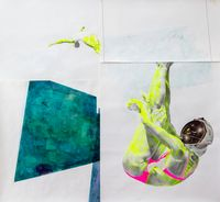 #2 of 17 Swimming Pools [Divers] by ruby onyinyechi amanze contemporary artwork painting, works on paper