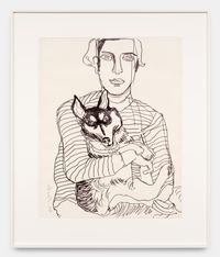 Hartley and Lushka by Alice Neel contemporary artwork works on paper, drawing