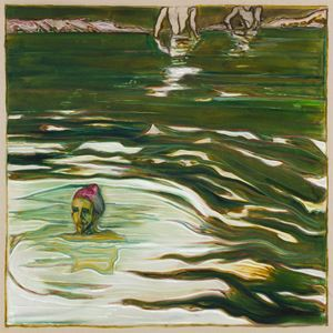 swimmers by Billy Childish contemporary artwork