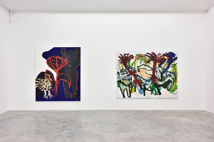 Exhibition view:Karel Appel, Figures et paysages, Almine Rech, Paris (12 October–16 November 2019).© Karel Appel. Courtesy the Artist and Almine Rech.Photo: Rebecca Fanuele.