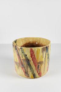 Untitled Ugly Pot by Rashid Johnson contemporary artwork ceramics