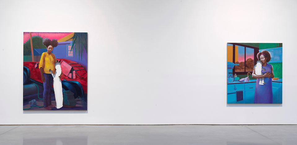 Exhibition view: Titus Kaphar, From a Tropical Space, Gagosian, West 21st Street, New York (1 October–19 December 2020). © Titus Kaphar. Courtesy Gagosian.Photo: Rob McKeever.