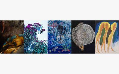 Exhibition view: Group exhibition,5 ARTISTS, KOSAKU KANECHIKA, Tokyo (23 October–4 December 2021). Courtesy KOSAKU KANECHIKA