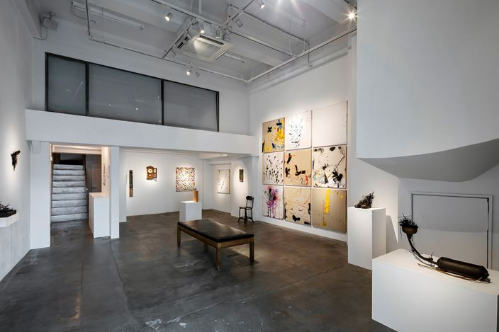 Exhibition view: Mitsugu Sato and Sadaharu Horio,ALIVE— living on, expression evolving, Gallery NAO MASAKI (11–26 April 2020). Courtesy Gallery NAO MASAKI.
