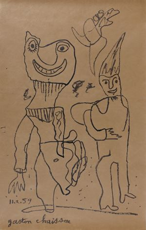 Two characters by Gaston Chaissac contemporary artwork