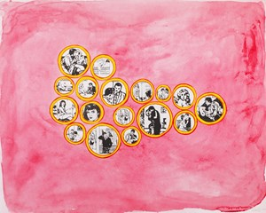 Lovers from Projeto Night Club by Leda Catunda contemporary artwork