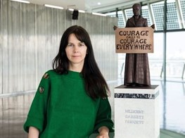 'Courage calls to courage everywhere': Suffragist sculpture unveiled in London